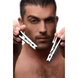 Зажимы на соски в виде бельевых прищепок Bros Pin Nipple Clamps