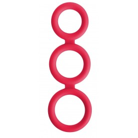 Красное тройное эрекционное кольцо Triad Cock Ring
