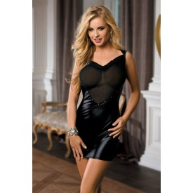 Короткое смелое платье с полупрозрачным лифом