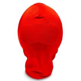 Закрытый красный шлем-маска без прорезей